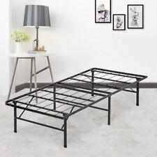 New Modern Bi-Fold Folding Platform Metal Bed Frame Mattress Foundation BF