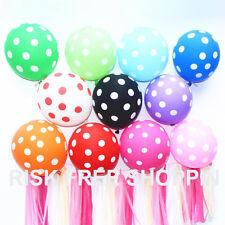 "12"" INCH 10-100 BALLON POLKA DOT Quality Party Birthday Wedding Balloons baloons"
