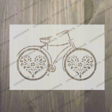 Bicycle Stencil 2 Vintage Craft, tissu, verre, mobilier, Wall Art jusqu'à A0