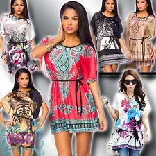 Tunika 34-40 Strand Kleid Sarong Kleid Minikleid Shirt Bluse Top Cover Up 12