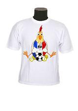 tee shirt enfant garçon fille coq foot coupe euro personnalisable réf 117
