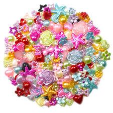 50pcs Mixed Flatback Pearl Embellishments Cabochon Scrapbooking Wedding Craft