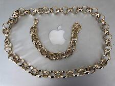 Men's Luxury 18k Gold Filled Solid Belcher Chain Necklace /Bracelet 8-16mm 18ct