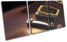 Guitar INSTRUMENTS Room Electric Musical TREBLE DOEK WALL ART foto afdrukken