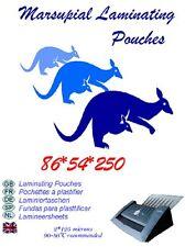 carta di credito DIMENSIONE ID BUSTE PER PLASTIFICARE 54 86 mm 250 MICRON PICK