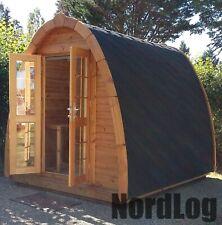 NordLog Camping Pod 2,4 x 2,4 m Haus Campinghaus Ferienhaus Gartenhaus Holz