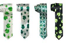 St Patty's Day Saint Patricks Day Shamrock Necktie Clover Leaf Tie - Assorted