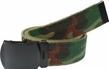 Mimetico Bosco Cintura con Nero Fibbia 100% Cotton Militare Rete Rothco 4178
