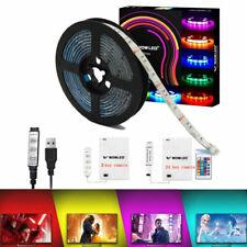 USB/Battery Powered TV Backlight RGB LED Strip Light Kit Color Changing 50-200CM