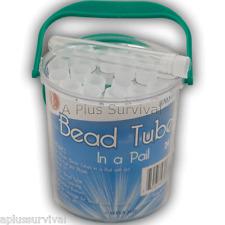 24 Waterproof Storage Tubes Medication Pills Beads Matches Fire Tinder Needles