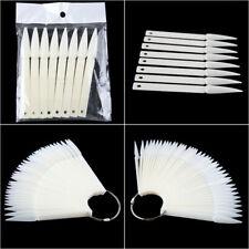 50pcs Stiletto False Display Nail Art Fan Wheel Polish Practice Pop Tip Sticks