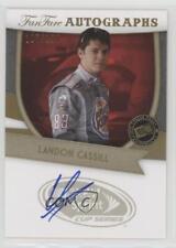 2012 Press Pass Fanfare Autographs Gold #LC Landon Cassill Auto Racing Card