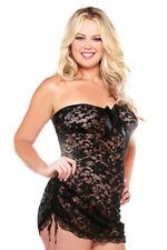 Sexy Black strapless Lace Dress Chemise Plus Size 20 22 24 P103 Dancer Seductive