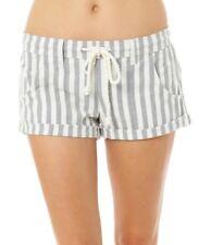 O'Neill MALINA Naked Winter White Grey Striped Drawstring Waist Junior's Shorts