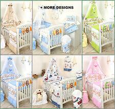 BOY GIRL 3,4,5,7,8,9 COT BEDDING SET NURSER BABY COT OR COT BED SET +MORE DESIGS