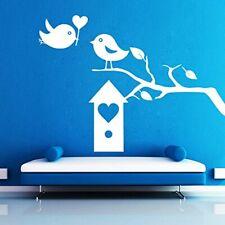 Wall Sticker Birds Heart Box Design Decal Removable Mural DIY Home Décor