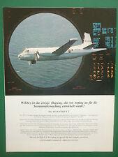 6/1985 PUB DASSAULT BREGUET AVIATION ATLANTIQUE 2 MARINE NATIONALE GERMAN AD