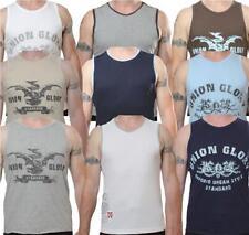 Mens Urban Glory crew neck cotton vests sleeveless t-shirts - 3 pack