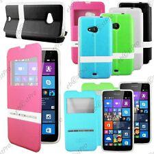 Accessoire Housse Coque Etui S-View Flip Cover Microsoft Nokia Lumia 535 +Film