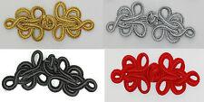 Rana Elementi Di Fissaggio Bottone Nodi Colori: Oro, Argento, Nero, Rosso # S8