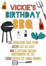 PREMIUM QUALITY - BBQ - Barbecue - Barbeque - Personalised Party Invites - PBBQ7