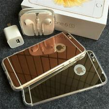 Fundada carcasa TPU silicone espelho espelho CAPA para iPhone 5 iphone6 7 i7plus