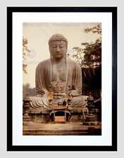 Vintage Gran misericordioso Buda Kamakura kotokuin templo Japón enmarcado impresión B12X3474