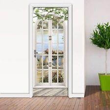 Door Mural Wallpaper 3d Creative Self-adhesive Wallpapers Bedroom Design Durable