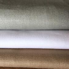 100% IRISH HERRINGBONE LINEN, 148cm wide,1st quality, White, Brown,Duck egg Blue