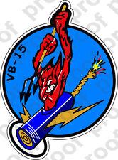 STICKER USN VB 15 BOMBER SQUADRON
