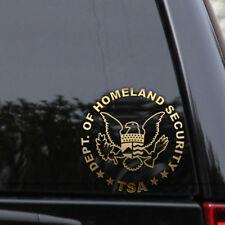 U.S. Department of Homeland Security Decal Sticker Retired TSA Car Window Laptop