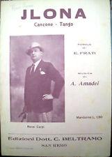 1929 SPARTITO PER MANDOLINO 'JLONA' TANGO. A. AMADEI. - E. FRATI