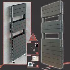"500mm(w) x 1500mm(h) ""Flow"" Anthracite DOUBLE Aluminium Electric Towel Rail 600W"