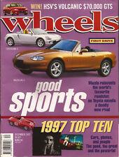 Wheels Dec 97 MX5 MR2  VW W12 996 911 Volvo T4 T40 MGF GS300