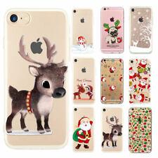Noël Renne Père de Noël Coque étui Housse Pour iPhone 7 Plus 6 6 S SE 5 s 5 8 X