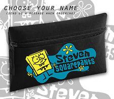 Spongebob Squarepants Any Name Personalised Black Pencil Case Cool School Gift