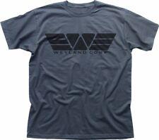 WEYLAND Corporation Corp YUTANI ALIENS PROMETHEUS grey printed t-shirt FN9289