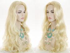 32 in Long Straight / Wavy Blonde Grey Brunette Red Straight Wavy Skin Top Wigs