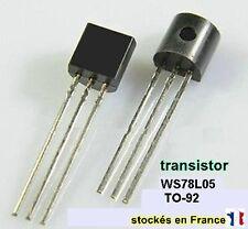Transistor WS78L05 ou 78L05 ou L78L05 , boitier TO-92 5V 0.1A . C34.3