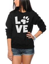Love Paw Print - Cat Dog Pet Lover Youth & Womens Sweatshirt