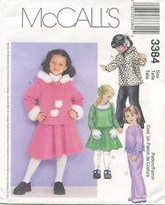 McCalls 3384 Girls Jacket Top Pants Skirt Sewing Pattern ~ Size 6 7 8