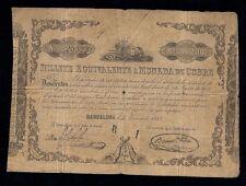 F.C. BILLETE EQUIVALENTE A MONEDA COBRE, 1853. B/C.
