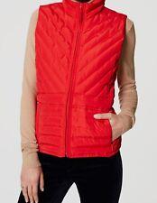 Ann Taylor LOFT Puffer Vest Size Medium NWT Summer Strawberry Color