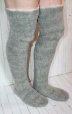 NEW MEN's LEG WARMERS sheep wool KNEE SOCKS warm  thick heavy fishing