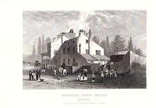 1840 Vittoriano Stampa ~ CAVALLINO LEGNO CASA ~ Middlesex Tavern