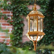 Vintage Aluminum Lantern Glass Outdoor Porch Ceiling Pendant Lights Waterproof