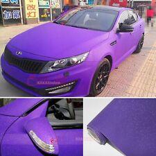 Air Free Car Matte Glitter Shining Diamond Sparkle Vinyl Wrap Sticker Purple AB