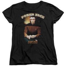 Star Trek Poker Face Womens Short Sleeve Shirt