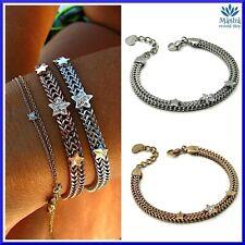 Bracciale da donna in acciaio inox con stelle semi rigido snake a braccialetto