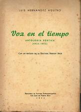 Luis Hernandez Aquino Voz En El Tiempo Poesias Margot Arce Puerto Rico 52 BAP